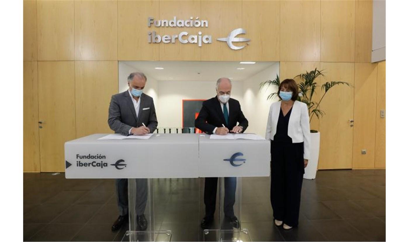 Firma de convenio de colaboración entre Fundación Ibercaja y Kühnel