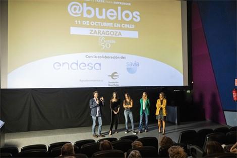 """Fundación Ibercaja presente como patrocinador en la premiere de """"@buelos"""", un film para emprendedores"""