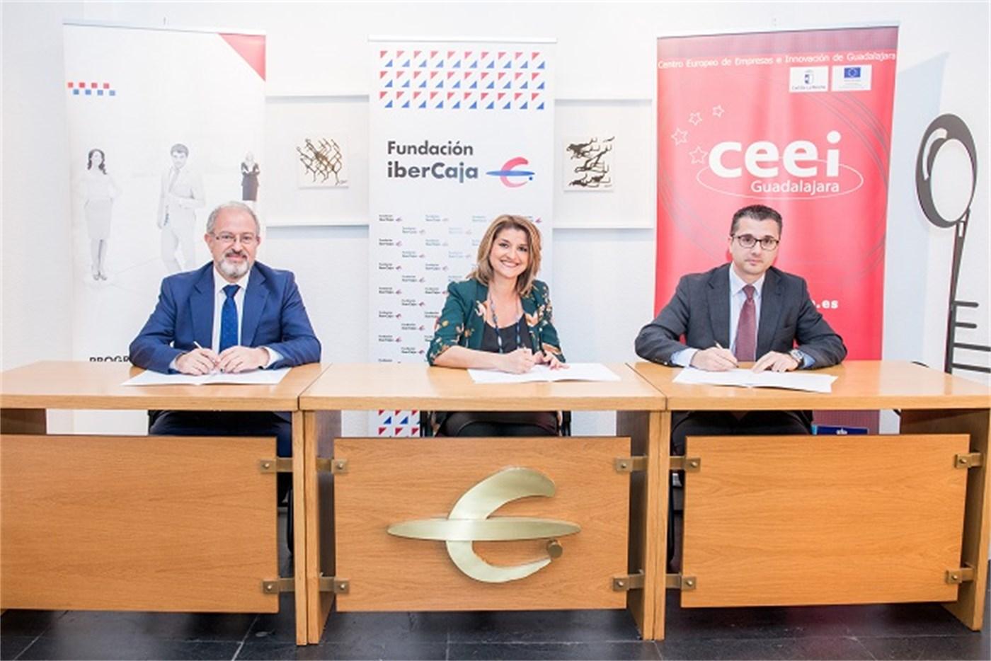 Nuevo compromiso entre Fundación Ibercaja y CEEI Guadalajara para apoyar la iniciativa emprendedora